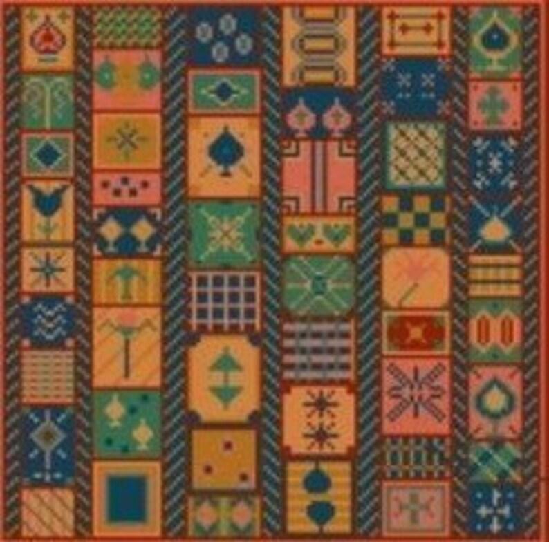 Needlepoint or Cross Stitch Pattern Design Chart  Victorian image 0