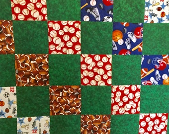 All Sport Quilt for Baby Boy Nursery Bedding Green Baby Blanket