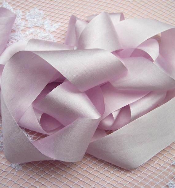 Soft Pink Silk Ribbon 5 Yards 1 Inch