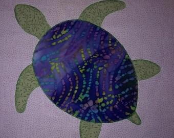 Turtle quilt block etsy