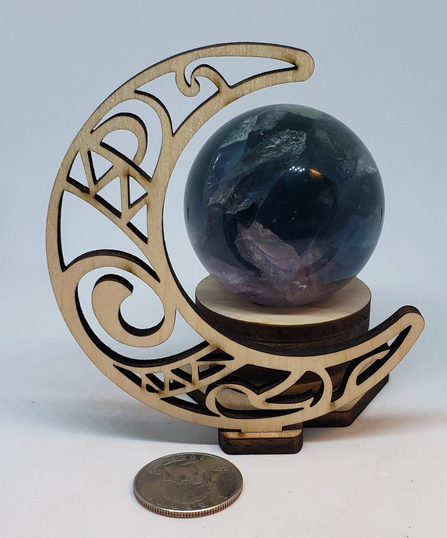 Crescent Moon Sphere Holder New moon sphere holder.