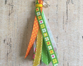 Spring time ribbon tassel