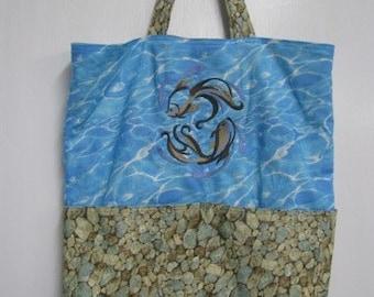Watercolor Style Koi Fish Eco Friendly Bag, Tote, Market Tote or Purse