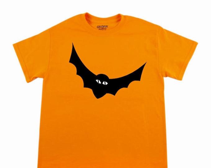 halloween shirt glow in the dark bat shirt