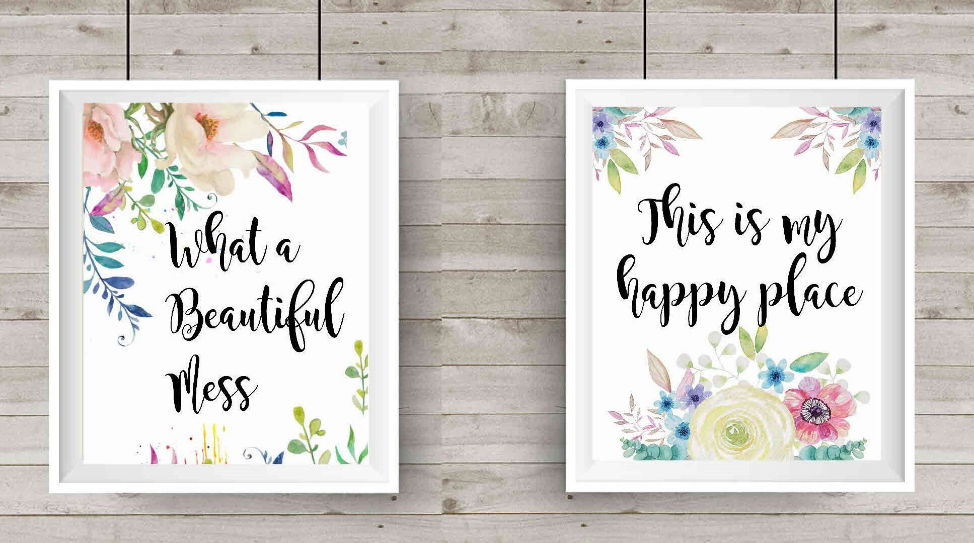 picture about Gift Not Included Printable known as Craft space decor, electronic down load, Fastened of 2 printables, floral