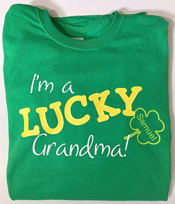 34b80e76b ... personalized Grandma shirt, Nana shirt, shamrock tshirt. gallery photo  ...
