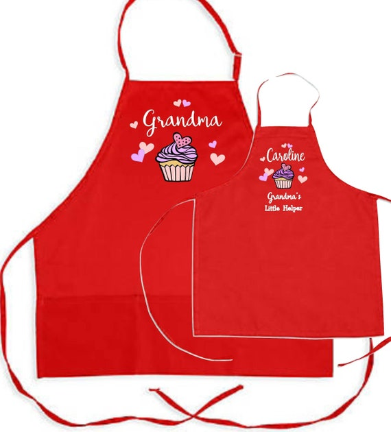 PERSONALISED CRAZY LADY MUM APRON XMAS GIFT COOKING BAKING ADULTS CHILD KIDS