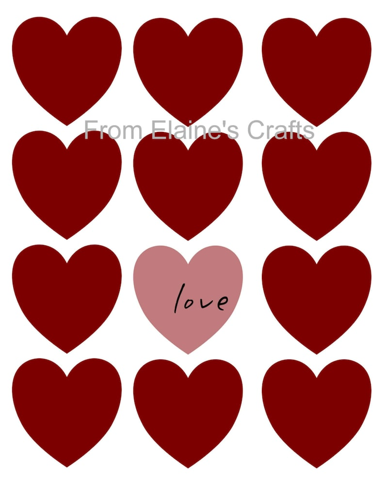 photograph regarding Printable Valentines Hearts identify Valentine centre printable delight in signal