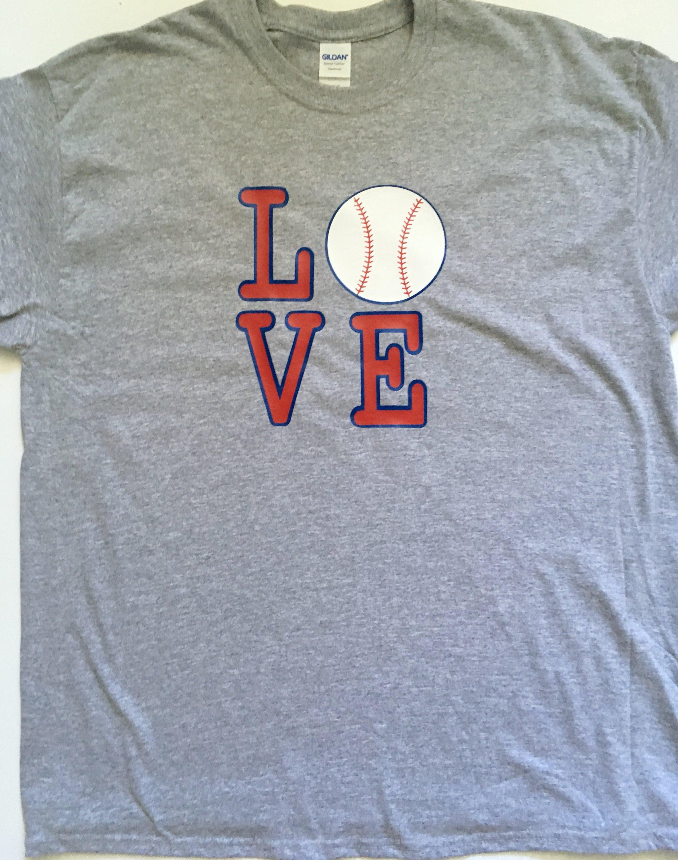 Love Baseball T Shirt Birthday Gift Lover Men Sports Womens Tee Kids Fan