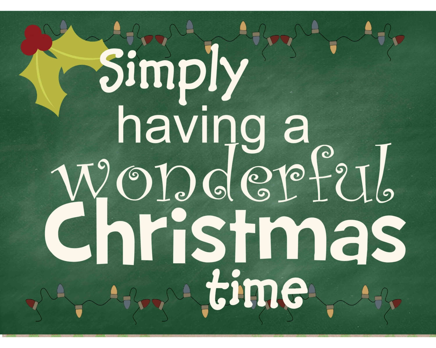 A Wonderful Christmas Time.Christmas Chalkboard Sign Digital Instant Download A
