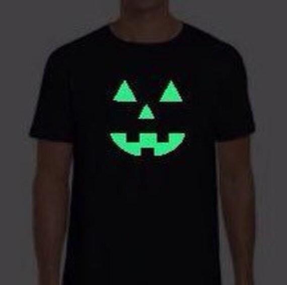 Halloween Glow In The Dark T Shirt Jack O Lantern Shirt Etsy