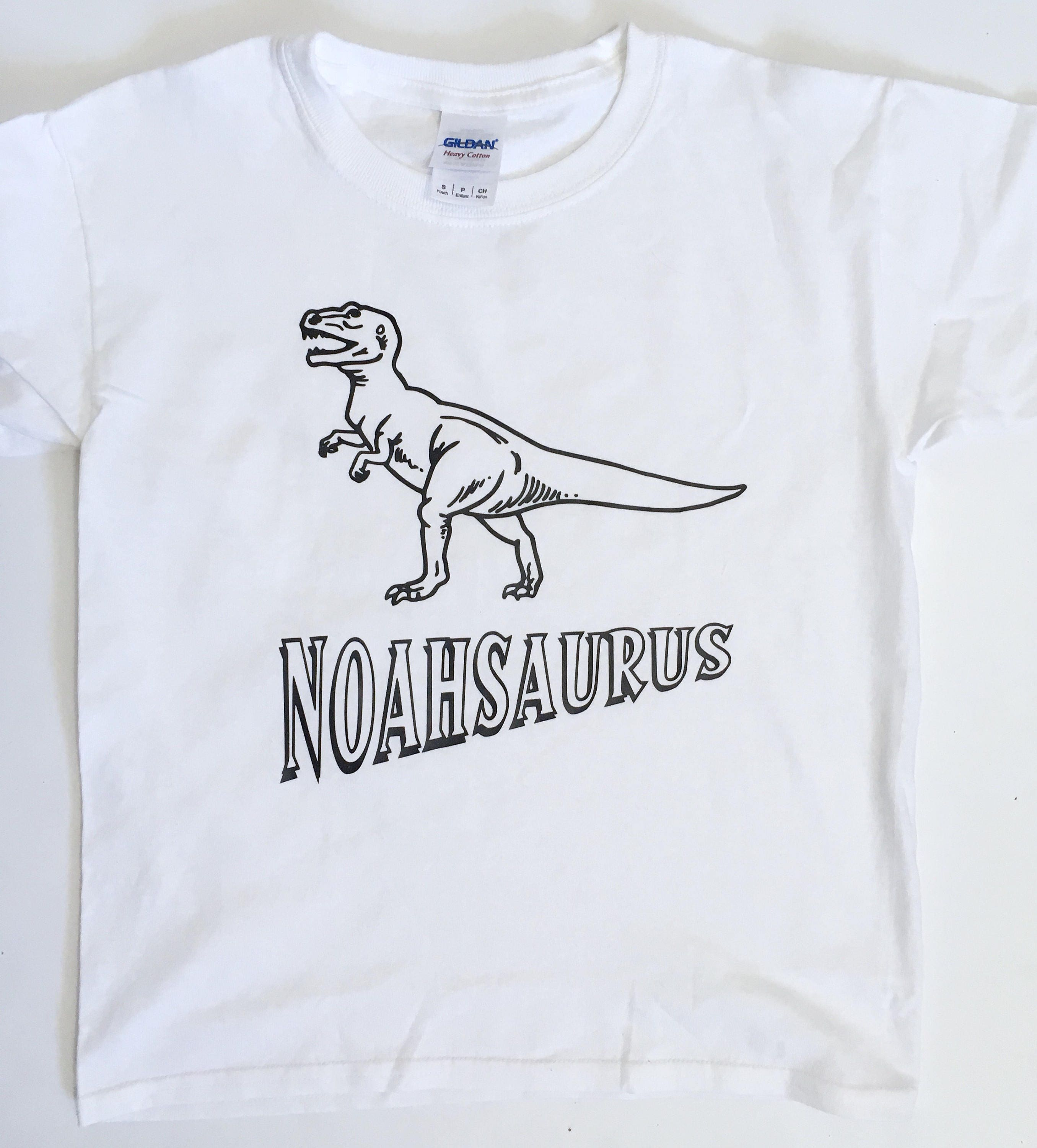 d5039cd77 ... kids T Rex t shirt, coloring shirt, add your own color, Boy Easter  gift, dinosaur birthday tee. gallery photo gallery photo gallery photo  gallery photo ...