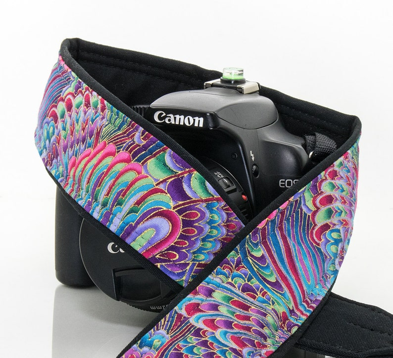 SLR Paisley Rainbow dSLR Camera Strap,Psychedelic Nikon camera strap 089 Camera Neck Strap Canon camera strap