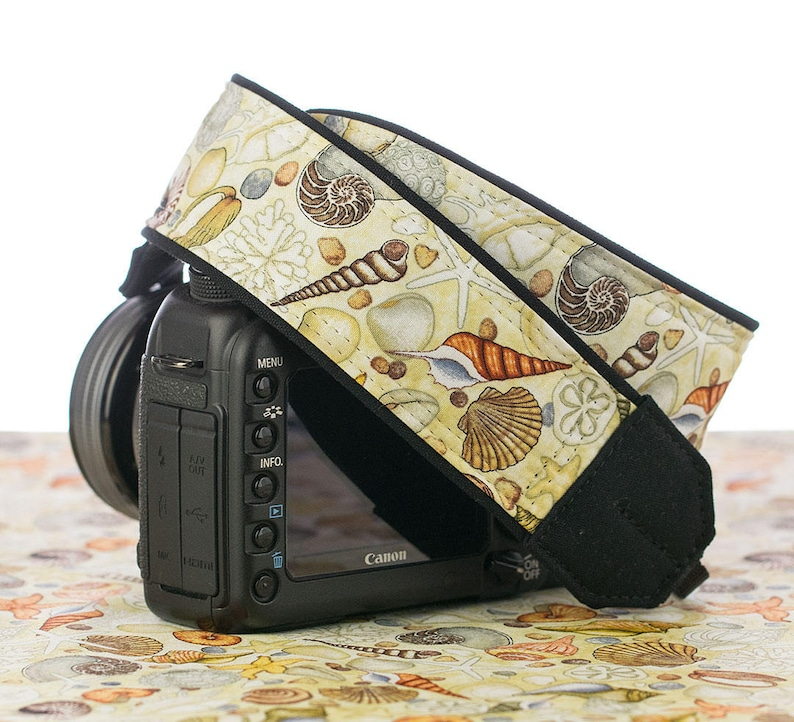 dSLR SLR Ocean Beach Nikon Seashell dSLR Camera Strap 293 Blue Canon Aqua