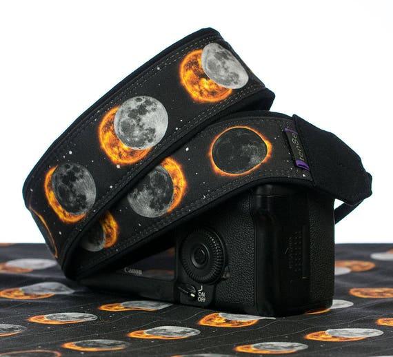 Solar Eclipse courroie de l'appareil, reflex numérique, reflex, poche, courroie Canon, courroie Nikon, photographe cadeau, courroie de cou, Mens courroie de l'appareil, 299