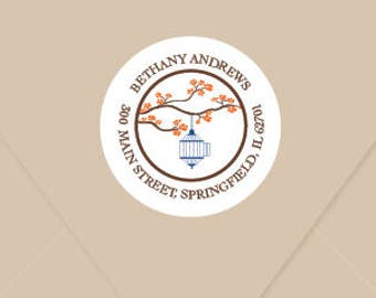 Personalized Address Label, Stationery label, Sticker - Butterfly
