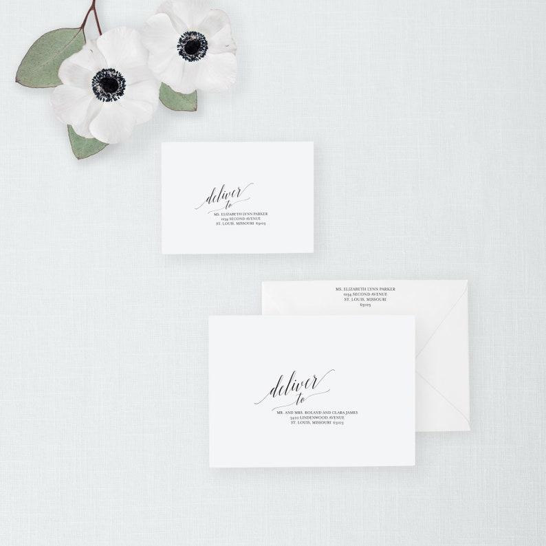 Wedding Envelope Template Editable Address Envelope image 0