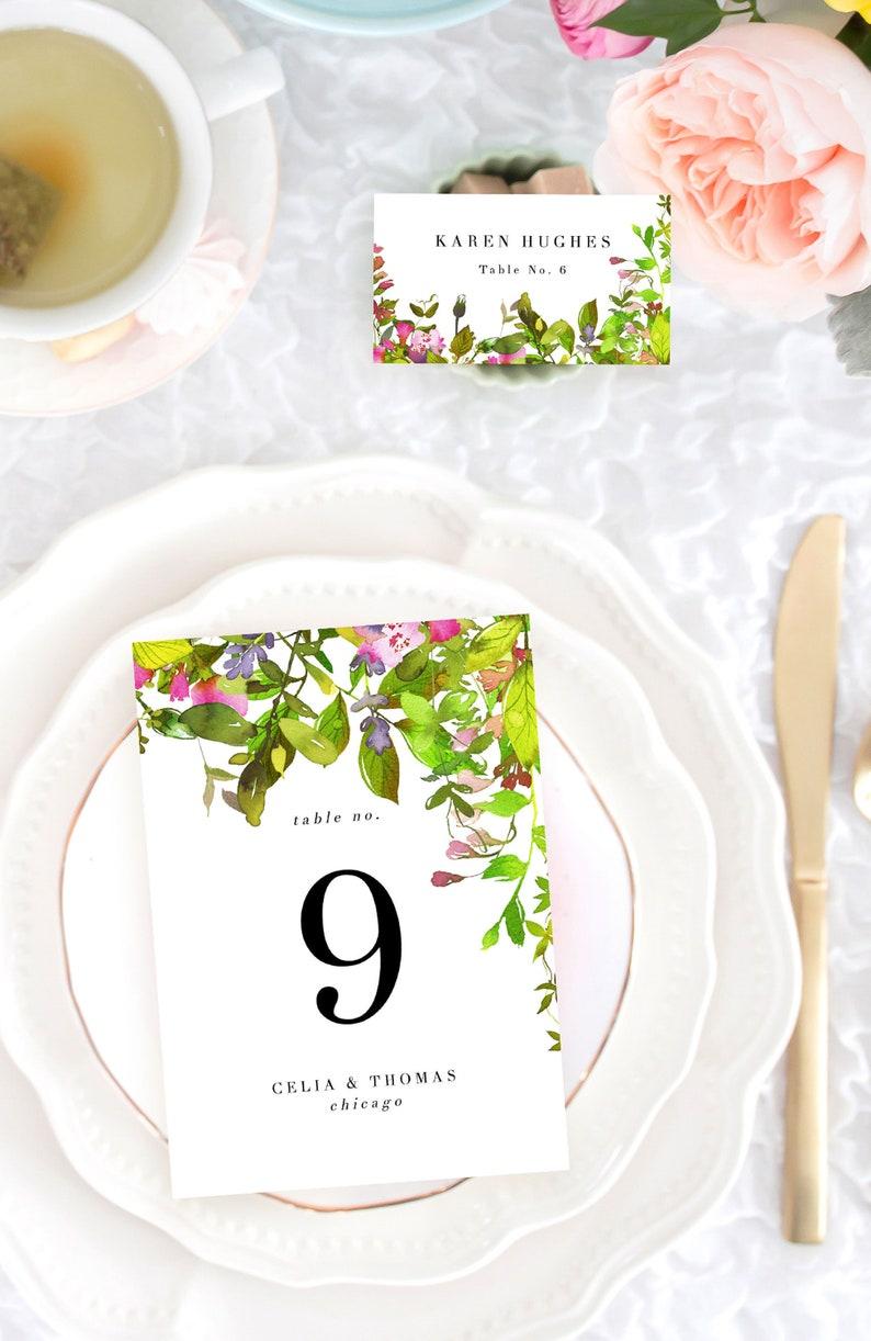 Custom Wedding Reception Place Cards Wedding Place Card image 0
