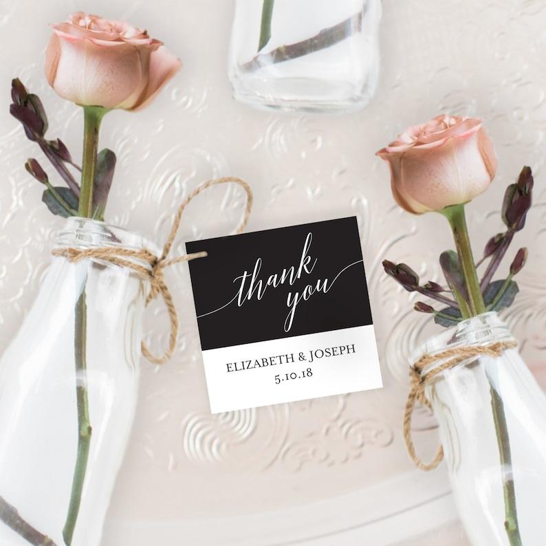 Thank you Tag 2x2 Wedding Favor Printable Wedding image 0