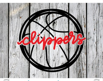 SVG, PNG Cut File, Clippers, la Clippers, Los Angeles Clippers, NBA, Silhouette Cut File, Cricut Cut File, Clippers svg, cut file, la svg