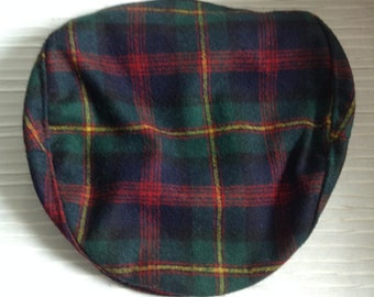 Pendleton Plaid Cap. Men's driving hat, Kongal, flat cap, Newsboy.  Size Large.  Vintage.   Appears unworn
