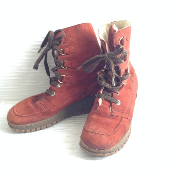 Platform Boots by Oslo.  Vintage 1970.  Size 8 or