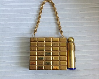 Compact Purse with Perfume holder.  Make up Holder. Vintage 1960