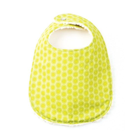 Lime Dot Extra Absorbent Phoebe Bib