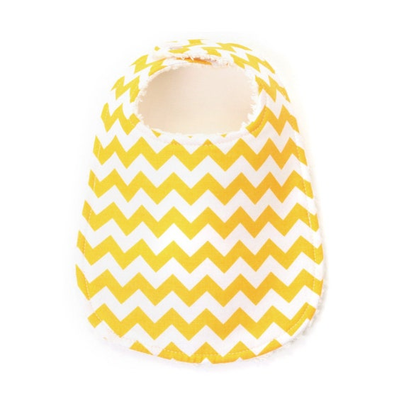 Yellow Chevron Extra Absorbent Phoebe Bib