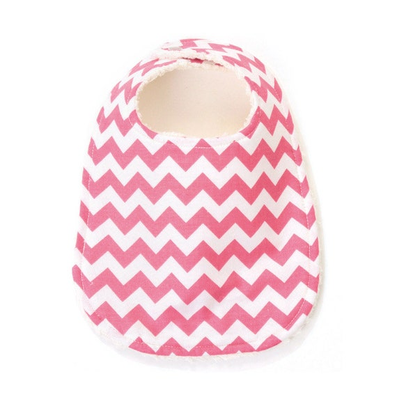 Hot Pink Chevron Phoebe Bib