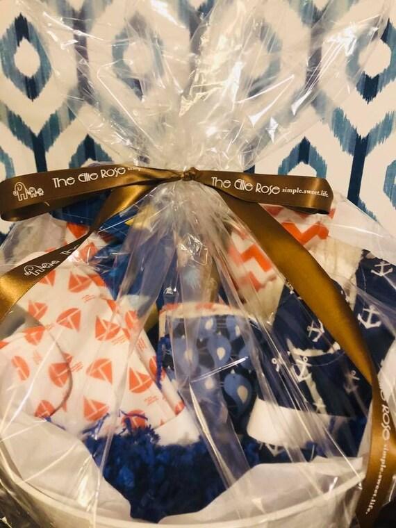 Phoebe Blanket, Bib and Burp Cloth Gift Set (Boy)