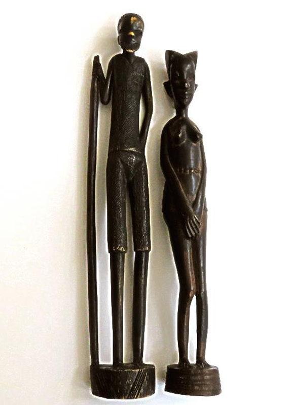 New Gold Giraffe Mum and Baby Standing Statue Ornament Figurine 39cm stunning