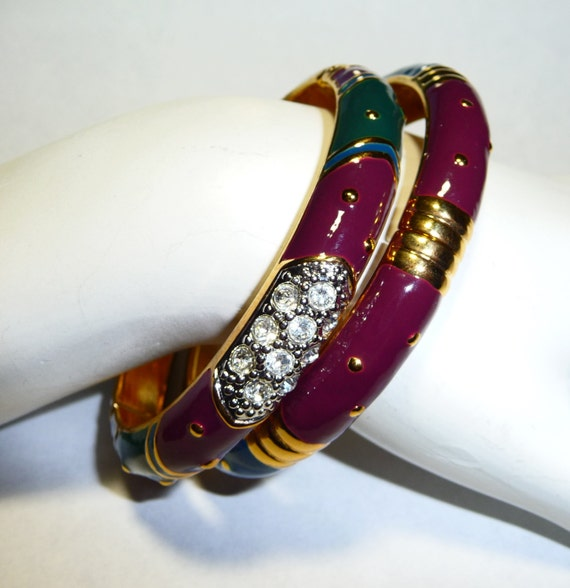 Joan Rivers Classics Collection Enameled Hinged Ba