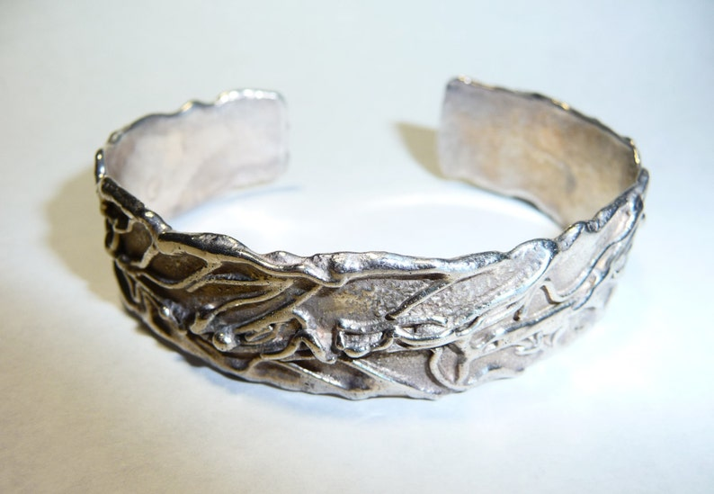 Sterling Silver Organic Chunky Cuff Bracelet on Etsy by Apurplepalm