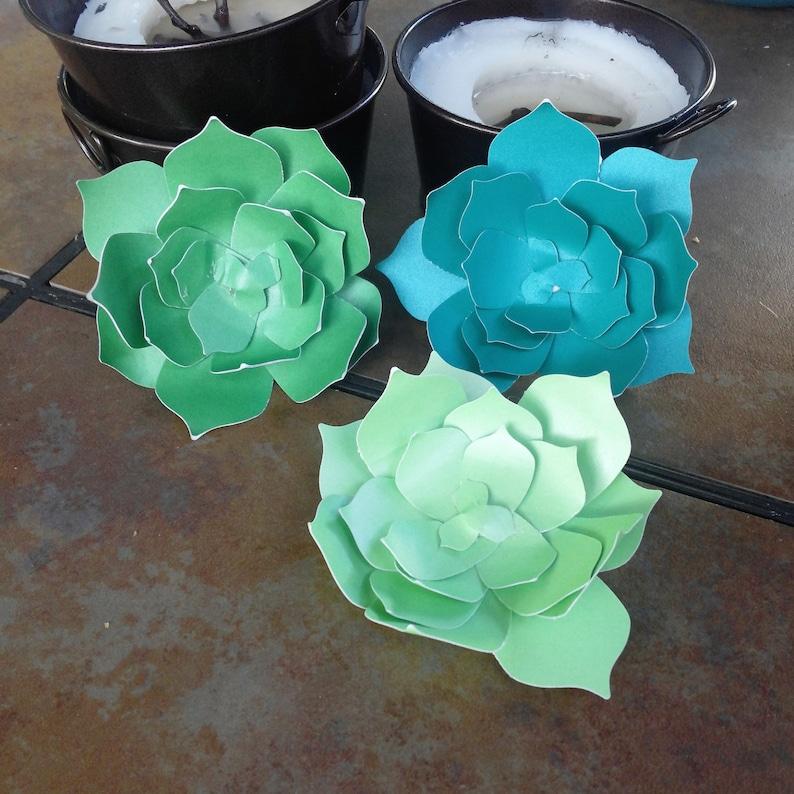 Paper succulents   set of 5 image 0