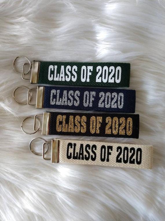 Class of 2022 Wristlet Key Fob Keychain Green
