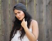 Turban Hat , Bohemian , Women Hat , Turban Headwrap, Hair Turban, Fashion Turban , Black and Grey