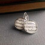 Book Earrings, Jane Austen, Elizabeth and Darcy, Austen Gift, Literary Jewellery, Teacher and Grad Gift Idea