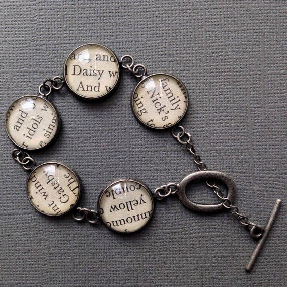 The Great Gatsby Book Bracelet, Teacher Gift, Literature Jewellery, Reader  Gifts, American Literature, Classic Books