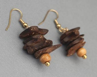 Earrings - Wood Beaded Earrings