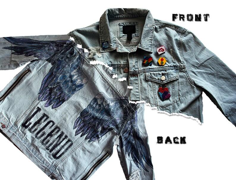 Legend Custom Hand Painted Denim Jacket