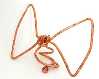 Copper Bow Mini Tree Topper -  metal handmade tree topper- small / medium - solid copper - bow tree topper