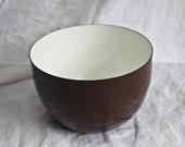 Vintage Arabia Finel Brown Enamel Bowl, c1960s, Vintage Enamelware, Arabia Finel Bowl, Vintage Enamel Bowl