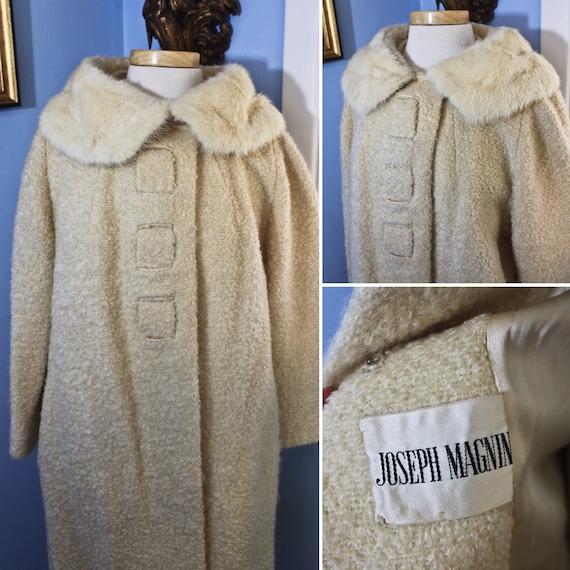 Cream Colored Curly Lamb Style Joseph Magnin Coat