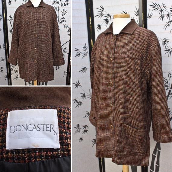 Vintage Brown Tweed Doncaster Jacket, Circa 1990s,