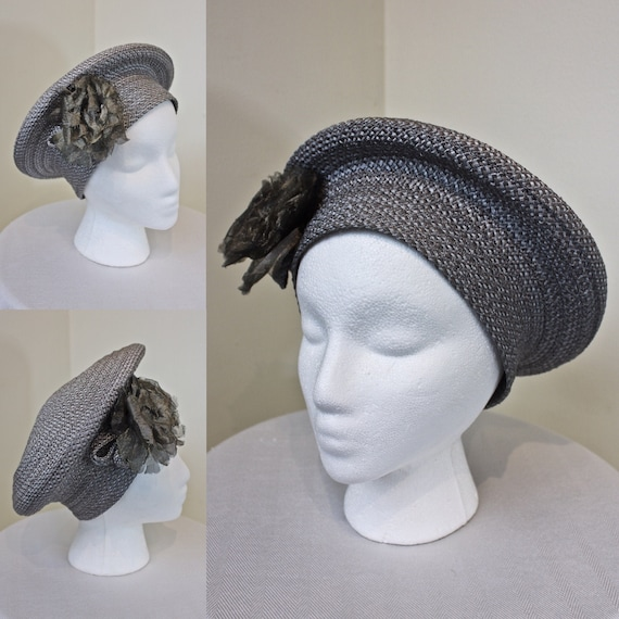 Vintage Deborah Rhodes Halo Style Blue Woven Hat,