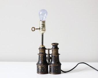 RESERVED vintage binocular lamp no. 2