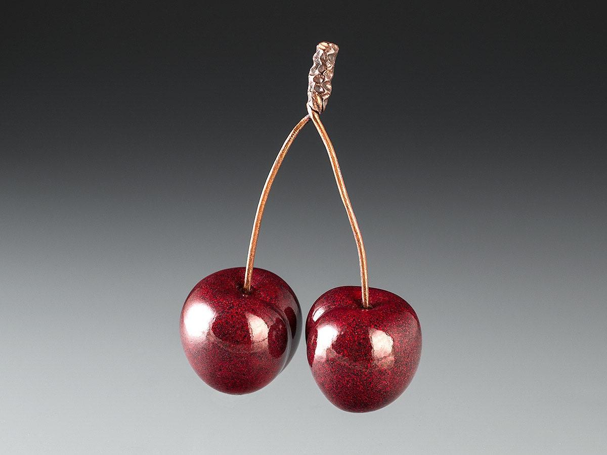 1 rote Kirsche Glasskulptur paar auch bekannt als Bing | Etsy