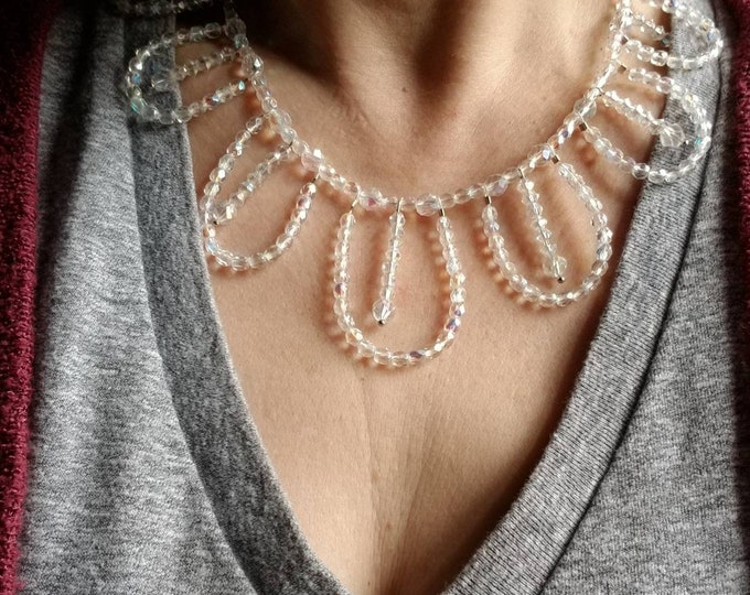 Bib necklace, bridal necklace, bridal statement necklace, crystal statement necklace, statement necklace, bride necklace, crystal bib