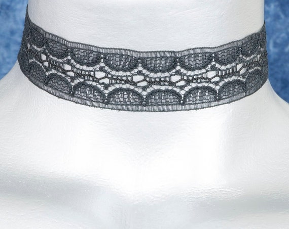 Black Wicked Lace Choker Necklace